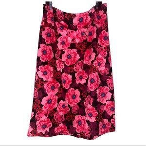 New! Worthington Woman Size 22W Layla Floral Skirt